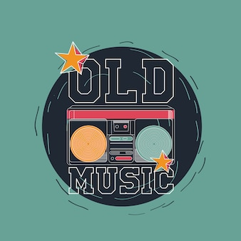 Old music vector design