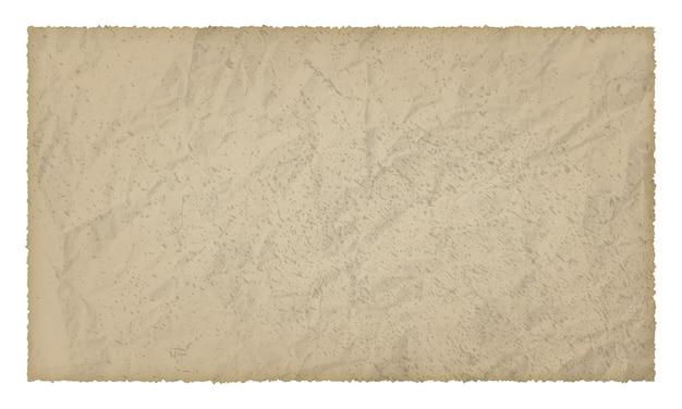 Старая бумага с обгоревшими краями на белом фоне с местом для текста. векторная иллюстрация
