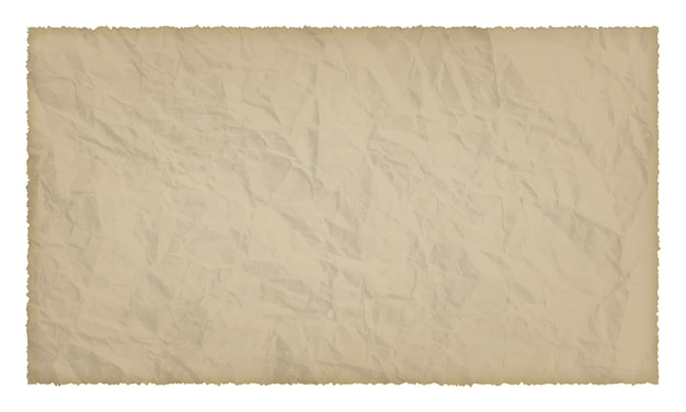 Old paper with burnt edges isolated on white background with place for your text. vector illustration