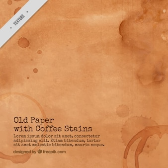 Old paper with coffee stains