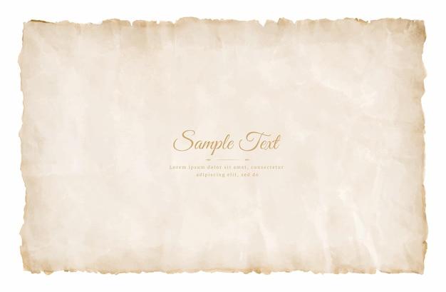 Старый винтажный лист пергаментной бумаги в возрасте или текстуры, изолированные на белом фоне.
