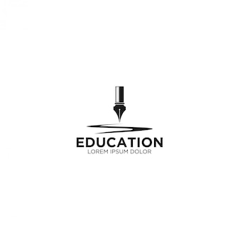 Old pen - logo for education and knowledge