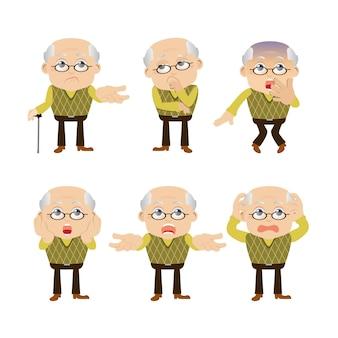 Набор старых людей