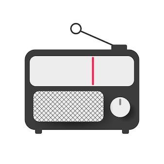 Старое радио. иллюстрация старого радио прошлого века. вектор