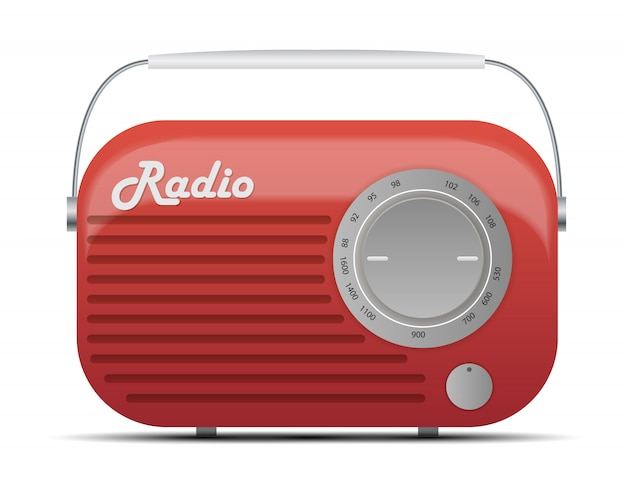 Old radio tuner icon   illustration