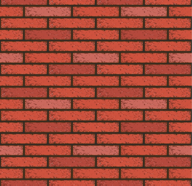 Old red brick pattern seamless wall