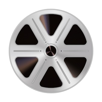 Old reel of filmstrip in a realistic style. isolated on a white background. vector illustration.
