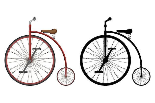 오래 된 복고풍 자전거 그림