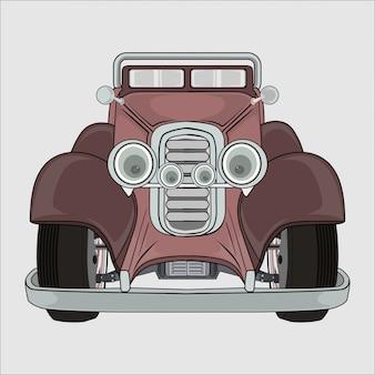 Old retro car illustration