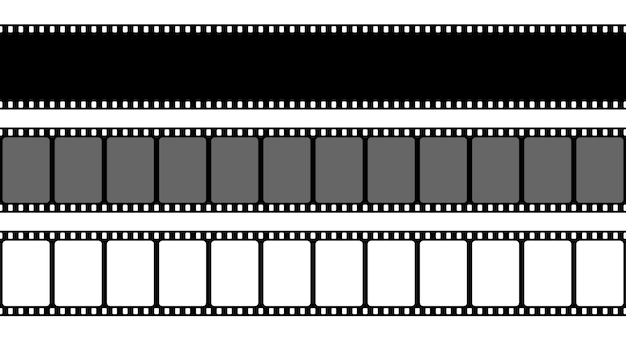 Old retro film strip frame, cinema filmstrip.