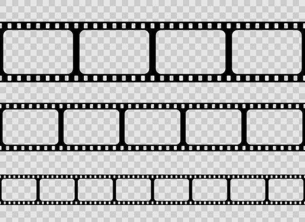 Old retro film strip frame, cinema filmstrip.