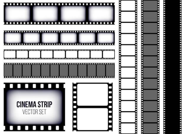 Old retro film strip frame