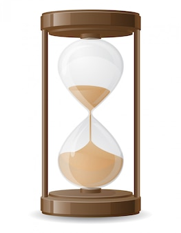 Old retro hourglass vector illustration
