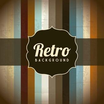 Old retro illustration over grunge background vector