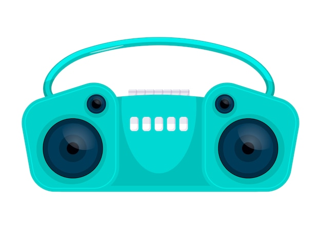 Old retro media music and radio player. vector illustration. flat icon design. isolated
