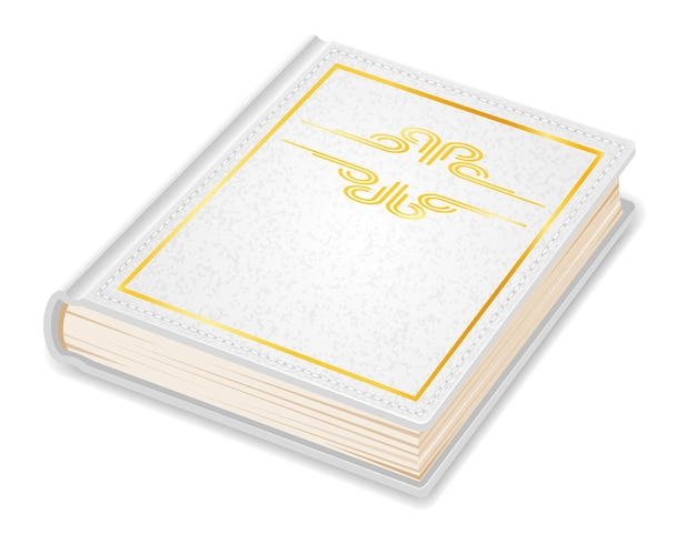 Старая ретро винтаж книга закрыта в крышке, изолированной на белом