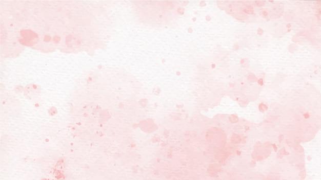 오래 된 종이 바탕에 분홍색 다채로운 수채화 스플래시 장미