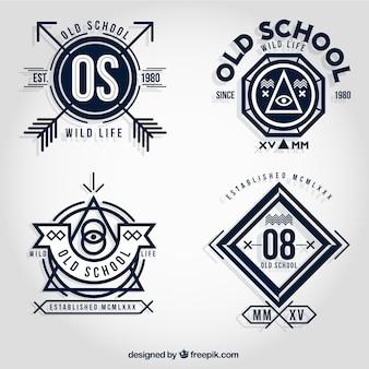 Old school badges