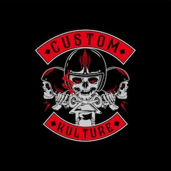 Old school custom kulture motorcycle vintage design