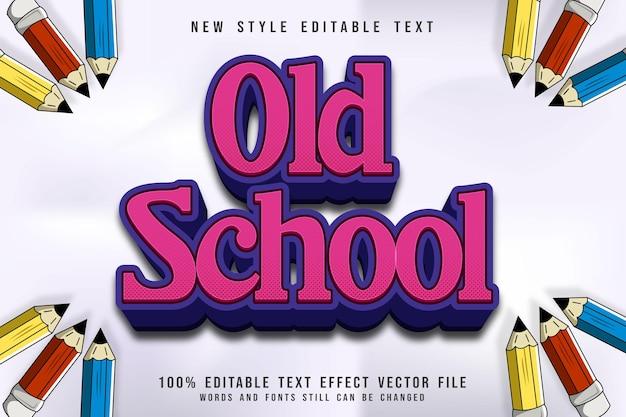 Редактируемый текстовый эффект старой школы 3-мерное тиснение в розовом стиле