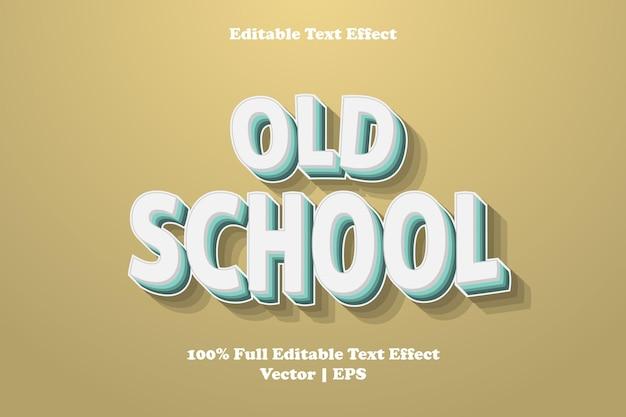 Редактируемый текстовый эффект старой школы