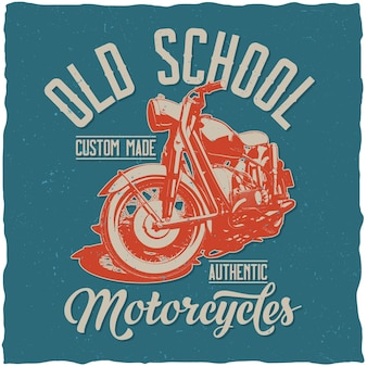Old school motorcycles poster