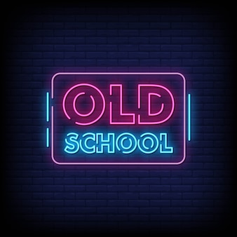 Old school neon signs style text