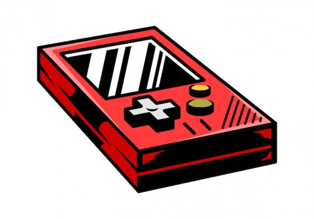 レトロなビデオゲームゲーマーアーケードをプレイするための古い学校のビンテージゲームパッド。