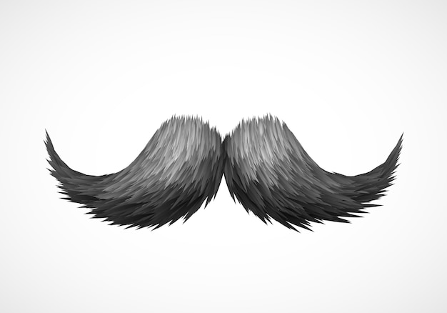Old style mustache.