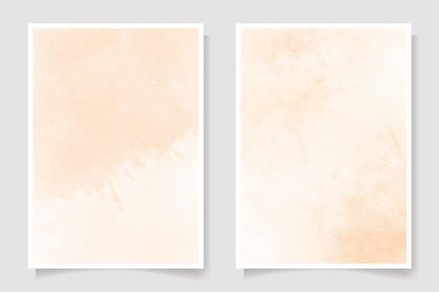古い織り目加工の紙水彩スプラッシュカード