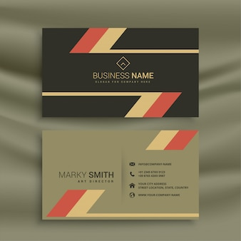 Old theme business card in retro style