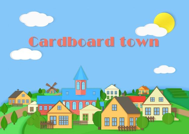 Old town cardboard village