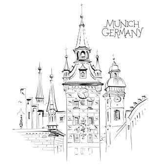 Старая ратуша в мюнхене, германия