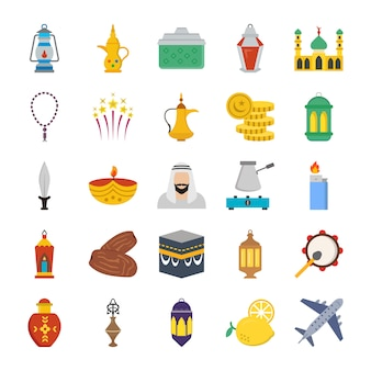 Old traditional heritage flat icons