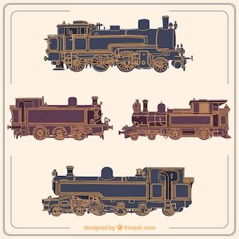 古い電車のコレクション