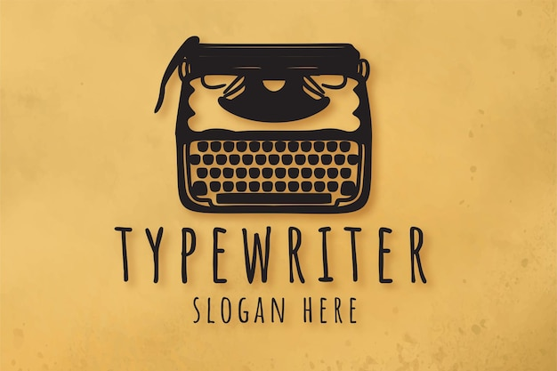 古いタイプライターのロゴデザインのインスピレーション