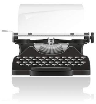 Старая пишущая машинка векторная иллюстрация