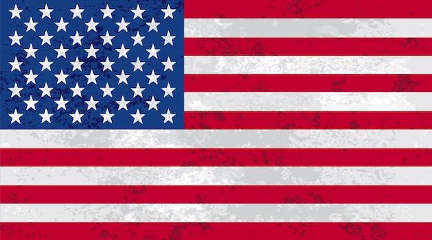 古いアメリカの旗