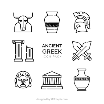 Old vector pack of ancient greek designs