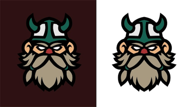 Old viking esport gaming logo