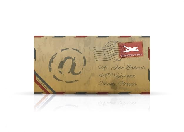 Old vintage airmail envelope