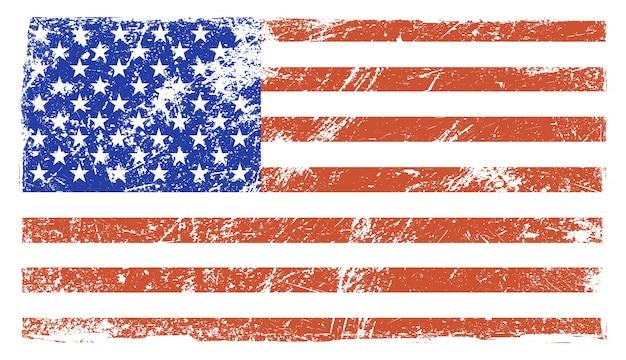 Old vintage american flag