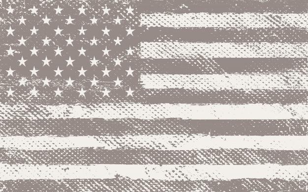 古いビンテージアメリカ国旗