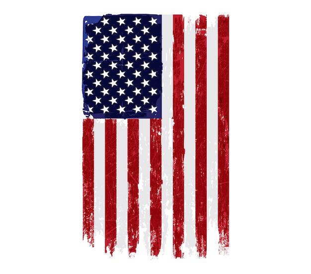 古いヴィンテージのアメリカ国旗