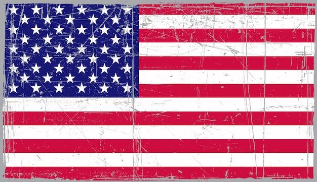 Старый старинный американский флаг