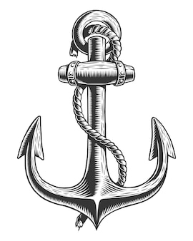 Old vintage anchor