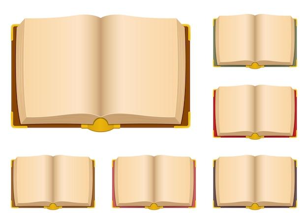 Старые старинные книги дизайн иллюстрация, изолированные на белом фоне