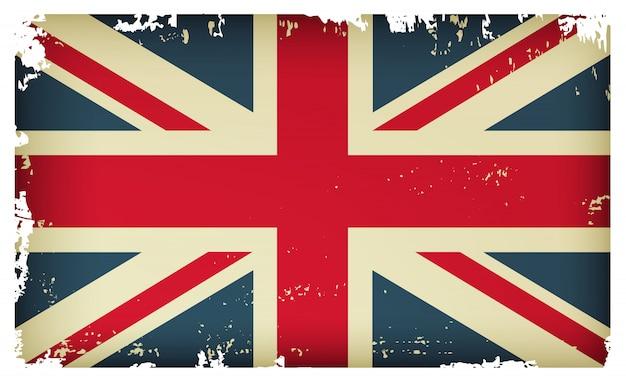 古いヴィンテージの英国の旗