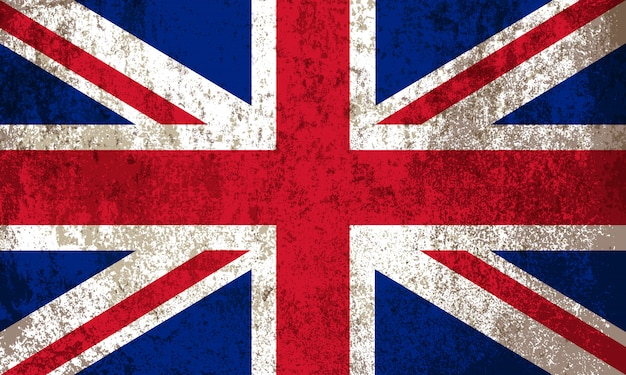 Old vintage british flag