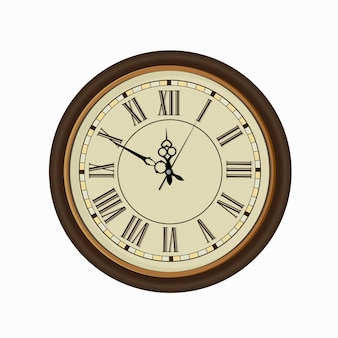 Old vintage clock face